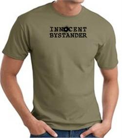 INNOCENT BYSTANDER BLACK Funny Adult T-shirt