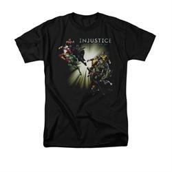 Injustice Gods Among Us Shirt Good VS Evil Black T-Shirt