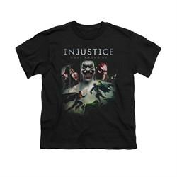 Injustice Gods Among Us Shirt Kids Superman VS Batman Black T-Shirt