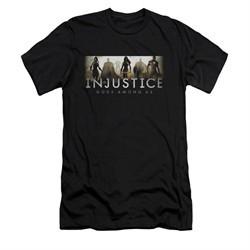 Injustice Gods Among Us Shirt Slim Fit Logo Black T-Shirt