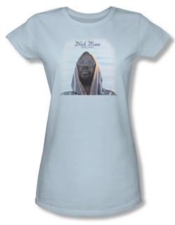 Issac Hayes Juniors Shirt Concord Music Black Moses Blue T-Shirt