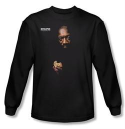 Issac Hayes Shirt Concord Music Chocolate Chip Black Long Sleeve Tee