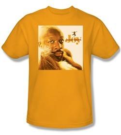 Issac Hayes Shirt Concord Music Joy Adult Gold Tee T-Shirt