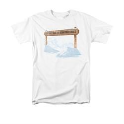It's A Wonderful Life Shirt Bedford Falls Adult White Tee T-Shirt