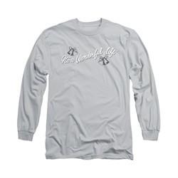 It's A Wonderful Life Shirt Logo Long Sleeve Silver Tee T-Shirt