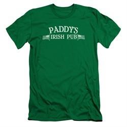 It's Always Sunny In Philadelphia Slim Fit Shirt Paddys Logo Kelly Green T-Shirt