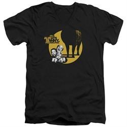 It's Always Sunny In Philadelphia Slim Fit V-Neck Shirt Pile Black T-Shirt