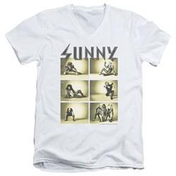 It's Always Sunny In Philadelphia Slim Fit V-Neck Shirt Rock Photos White T-Shirt