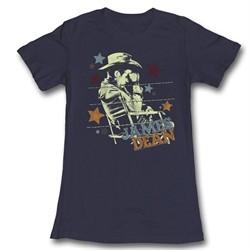 James Dean Shirt Juniors Stars Navy Blue T-Shirt