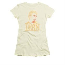 James Dean Shirt Juniors Word Head Cream T-Shirt