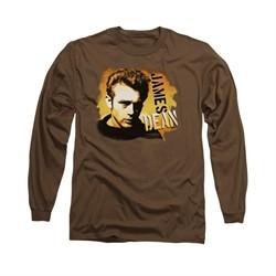 James Dean Shirt Serious Long Sleeve Coffee Tee T-Shirt