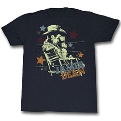 James Dean Shirt Stars Black T-Shirt
