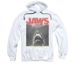 Jaws Hoodie Block Classic Fear White Sweatshirt Hoody