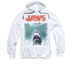 Jaws Hoodie Vintage Poster White Sweatshirt Hoody