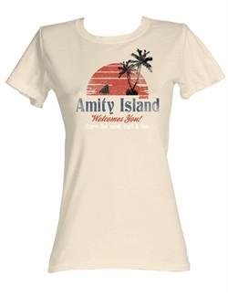Jaws Juniors T-shirt Amity Island Dirty White Tee Shirt