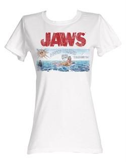 Jaws Juniors T-shirt Jaws Island Classic White Tee Shirt