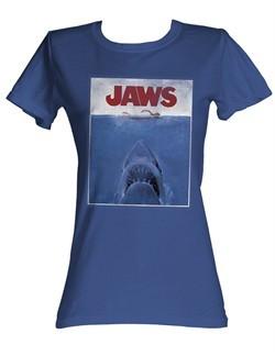 Jaws Juniors T-shirt Movie Poster Classic Royal Tee Shirt