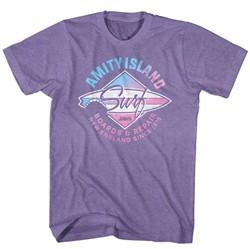Jaws Shirt Amity Island Surf Heather Purple T-Shirt