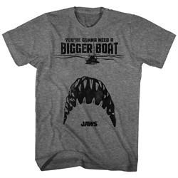 Jaws Shirt Bigger Boat Athletic Heather T-Shirt