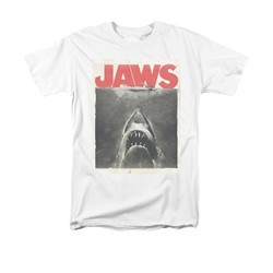 Jaws Shirt Block Classic Fear White T-Shirt