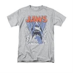 Jaws Shirt Comic Splash Athletic Heather T-Shirt