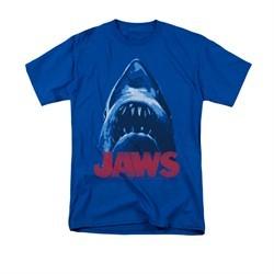 Jaws Shirt From Below Royal Blue T-Shirt