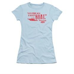 Jaws Shirt Juniors Bigger Boat Light Blue T-Shirt