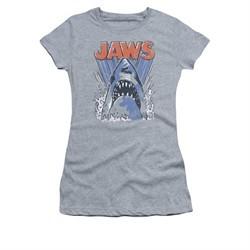 Jaws Shirt Juniors Comic Splash Athletic Heather T-Shirt