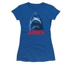 Jaws Shirt Juniors From Below Royal Blue T-Shirt