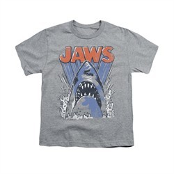 Jaws Shirt Kids Comic Splash Athletic Heather T-Shirt
