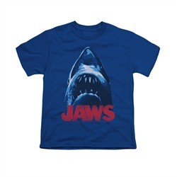 Jaws Shirt Kids From Below Royal Blue T-Shirt