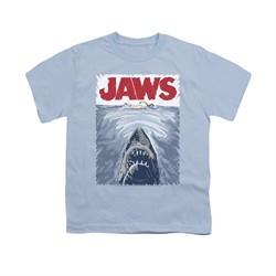 Jaws Shirt Kids Graphic Poster Light Blue T-Shirt