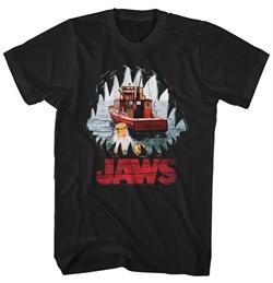 Jaws Shirt Mouth POV Black T-Shirt