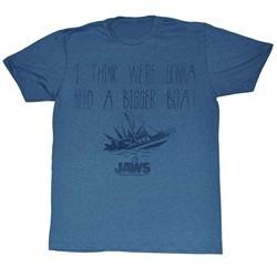 Jaws Shirt Need A Bigger Boat Adult Heather Blue Tee T-Shirt