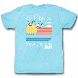 Jaws Shirt New England Heather Blue T-Shirt