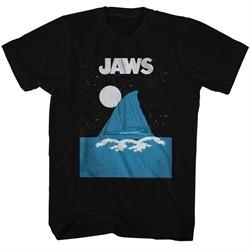 Jaws Shirt Sail Boat Black T-Shirt