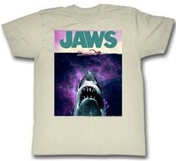 Jaws Shirt Shark Movie Poster Natural T-Shirt