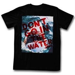Jaws Shirt Shark Out Of Water Black T-Shirt