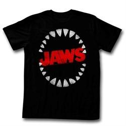 Jaws Shirt Shark Teeth Black T-Shirt
