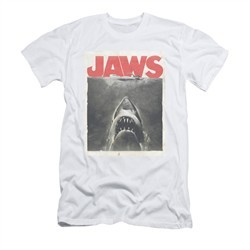 Jaws Shirt Slim Fit Block Classic Fear White T-Shirt