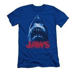 Jaws Shirt Slim Fit From Below Royal Blue T-Shirt