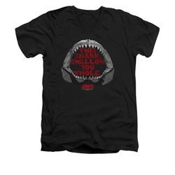 Jaws Shirt Slim Fit V-Neck This Shark Black T-Shirt