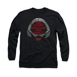 Jaws Shirt This Shark Long Sleeve Black Tee T-Shirt