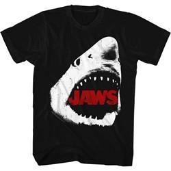 Jaws Shirt White Shark Black T-Shirt