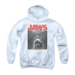 Jaws Youth Hoodie Block Classic Fear White Kids Hoody