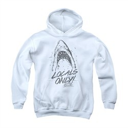 Jaws Youth Hoodie Locals Only White Kids Hoody