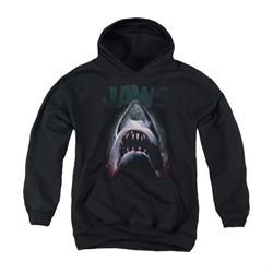 Jaws Youth Hoodie Terror In The Deep Black Kids Hoody