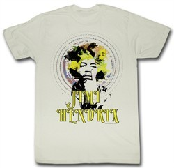 Jimi Hendrix T-shirt Jimi Trip Adult Dirty White Tee Shirt