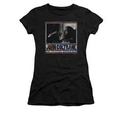 John Coltrane Shirt Juniors Prestige Recordings Black T-Shirt