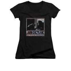 John Coltrane Shirt Juniors V Neck Prestige Recordings Black T-Shirt